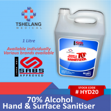 70% Alcohol Hand & Surface Sanitiser 1L
