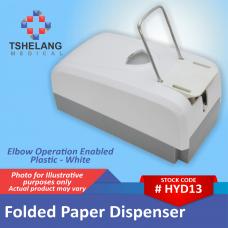 Folded Paper Towel Dispenser - Plastic - White