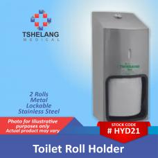 Toilet Roll Holder - 2 Rolls - Stainless Steel