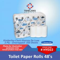 Kimberly-Clark Kleenex De Lux 2 Ply Toilet Paper 48's - Unwrapped