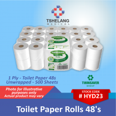 Twinsaver 1 Ply Toilet Paper 48's - Unwrapped